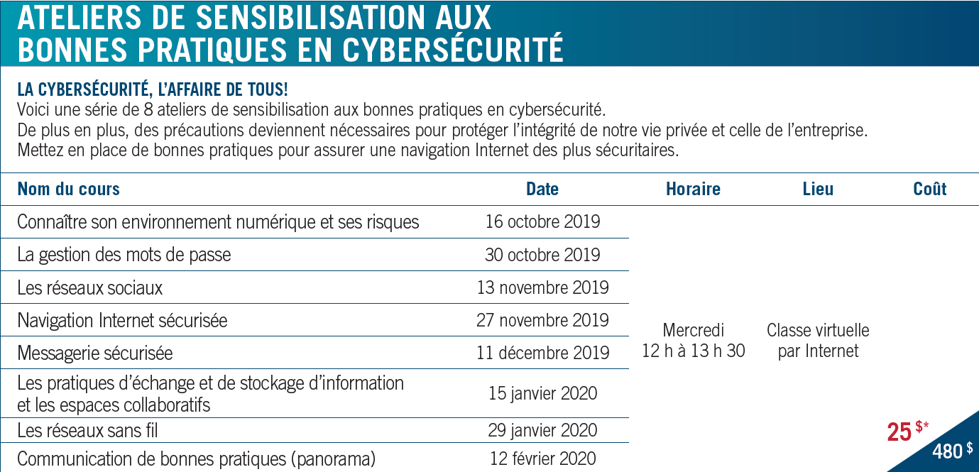 Horaire cybersecurite ae178